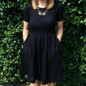 New✨Lularoe Amelia Elegant Black Floral Dress XXS